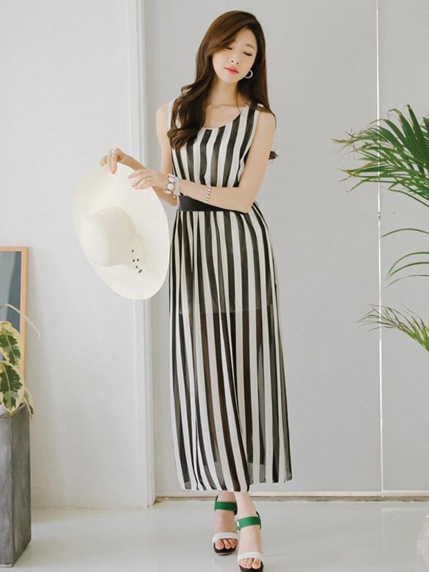 Váy maxi tôn chiều cao