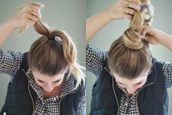 Búi tóc bằng kẹp tăm
