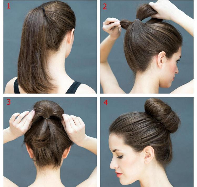 Búi tóc cũng khá đơn giản cho quý cô trung niên