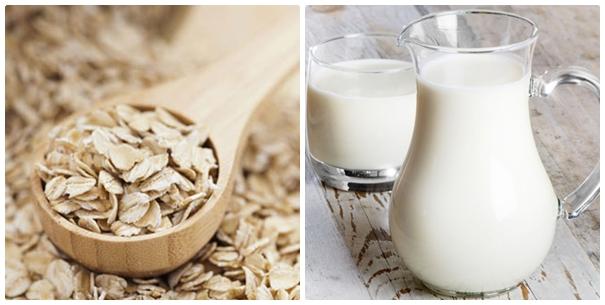 Bột yến mạch+Sữa tươi/Sữa chua