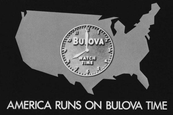 Khẩu hiệu của Bulova xuất hiện trên truyền hình năm 1941